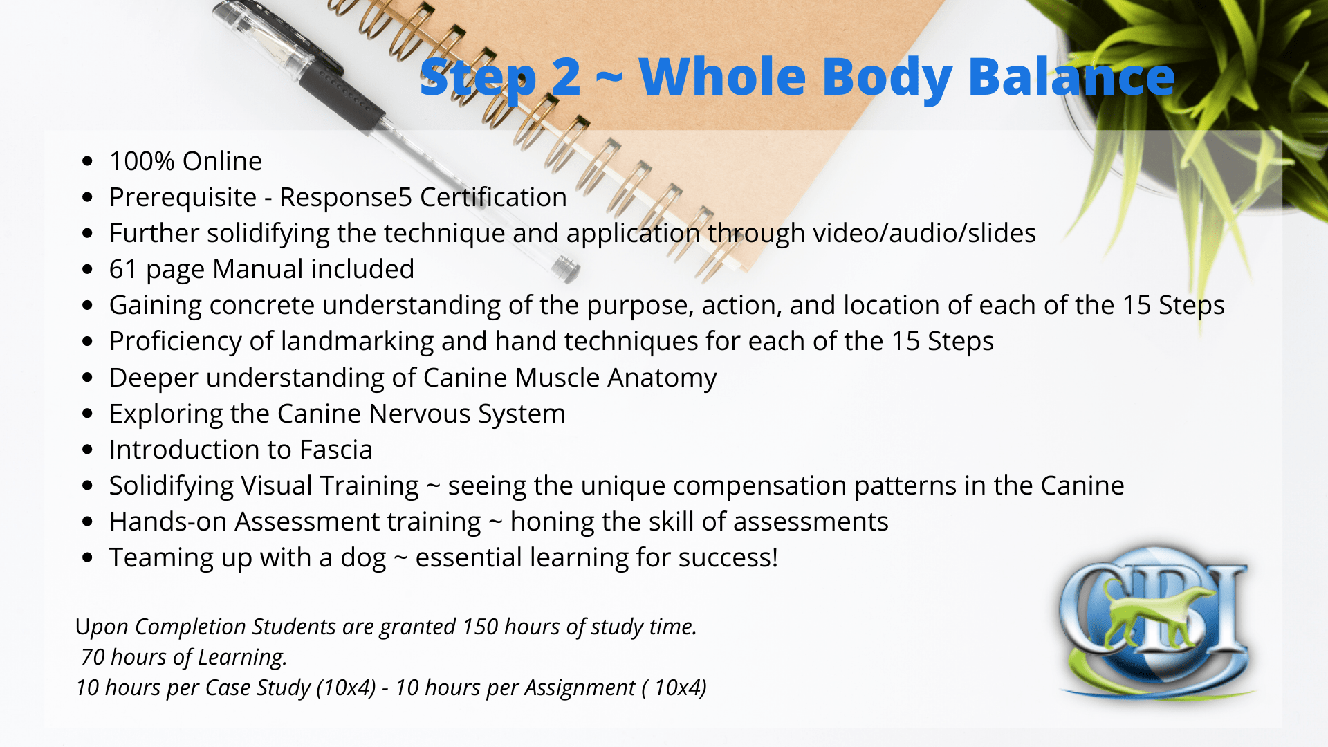 Canine Bowen Institute Whole body Balance
